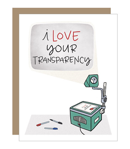 I Love Your Transparency Staple Card (6 singles)