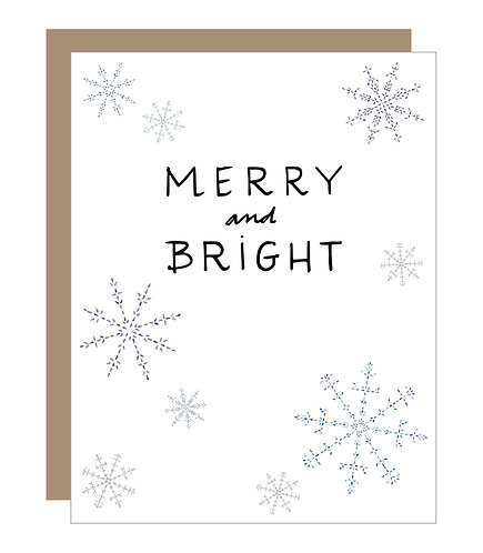 Merry and Bright Card (6 singles)