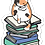 Thumbnail: Bookish Kitty Sticker (6 singles)