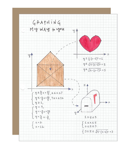 Graphing My Way to You Card (6 singles)