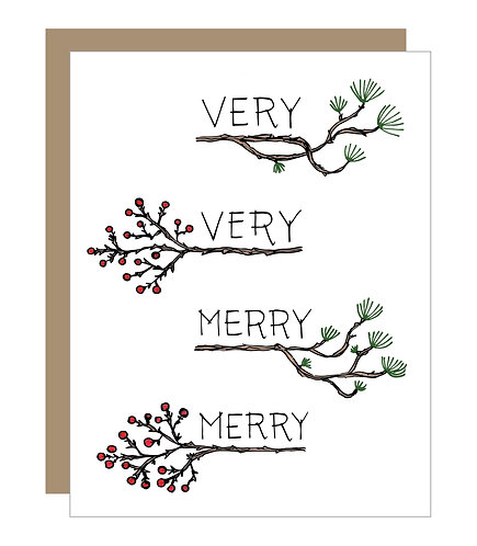 Very Very Merry Merry Card (6 singles)