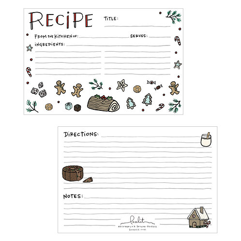 Merry Recipe Card Set (3 sets of 10)