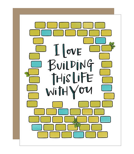 Building This Life with You Card (6 singles)