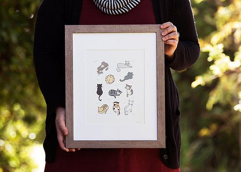 Purr-Friends Art Print (3 prints)