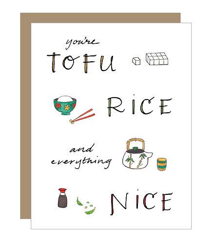 Tofu and Rice (6 singles)