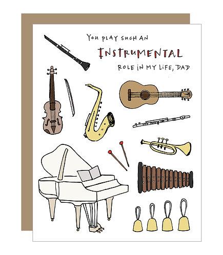 Instrumental Dad Card (6 singles)