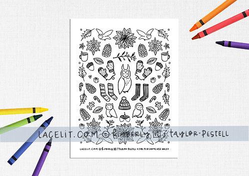 Verily Merrily Coloring Sheet Printable Download