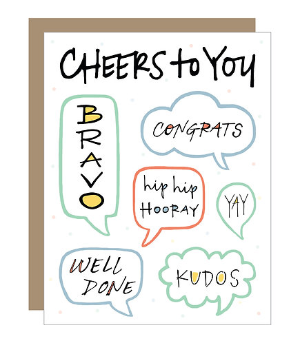 Cheers to You Card (6 singles)