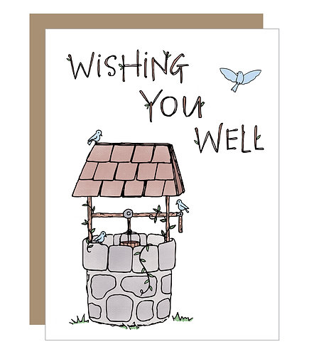 Wishing You Well Card (6 singles)