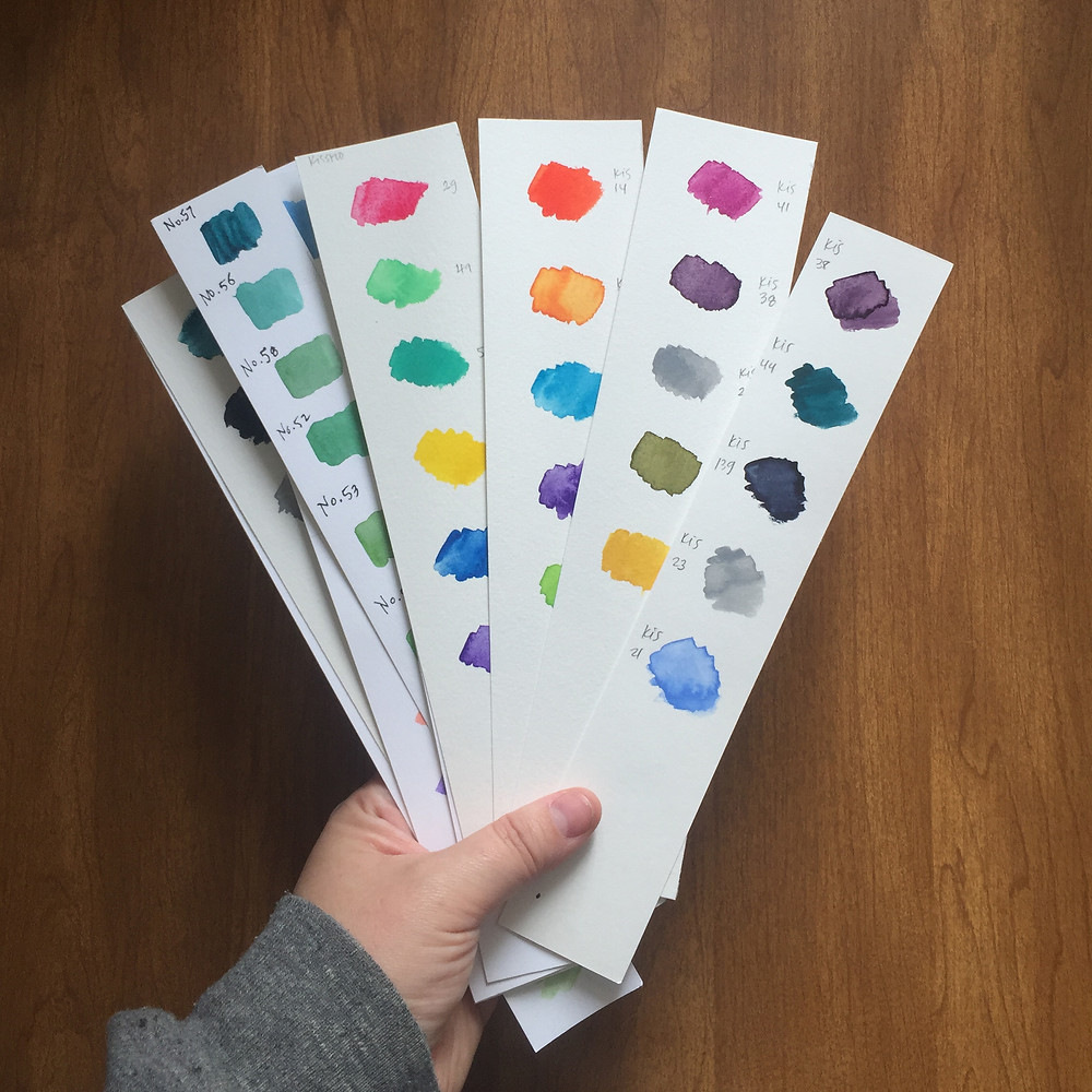 Kimberly's color study palettes