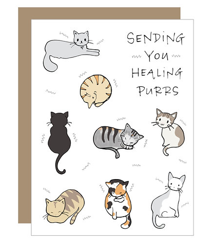 Healing Purrs Card (6 singles)