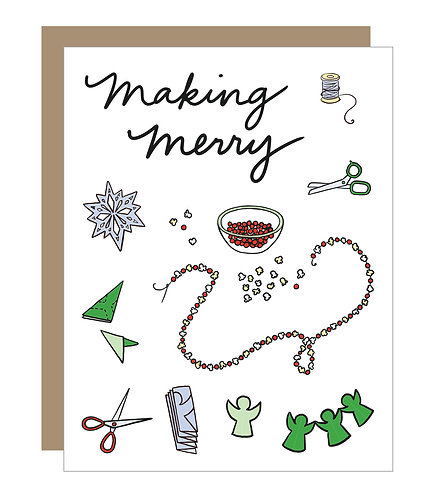 Making Merry Card (6 singles)