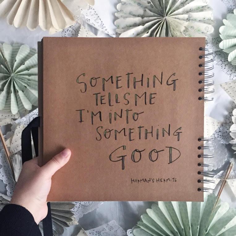 "Kimberly's sketchbook: ""Something tells me I'm into something good."" - Herman's Hermits"