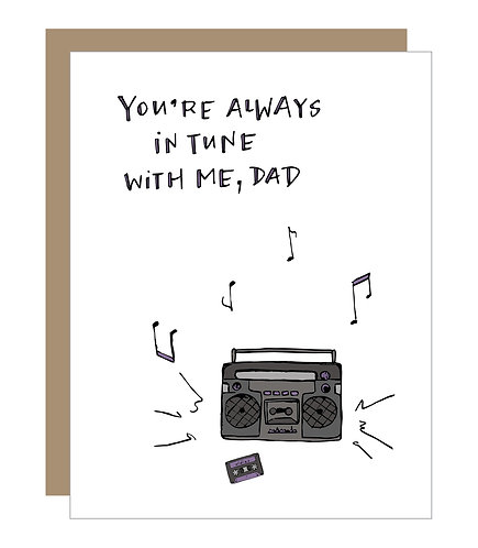 In Tune Dad Card (6 singles)