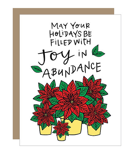 Joy in Abundance Card (6 singles)