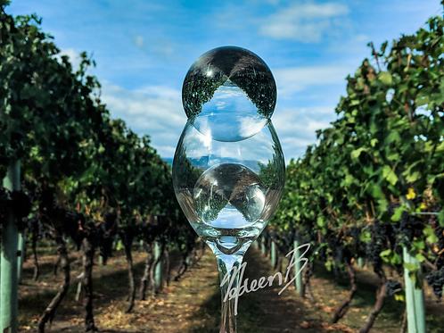 Wine Glass in the Vineyard