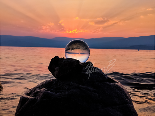Lensball Sunset