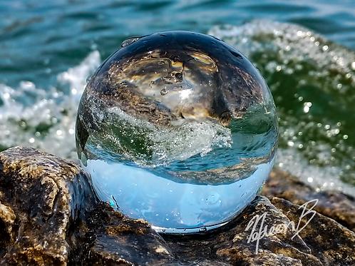 Water and Mountain Swirl