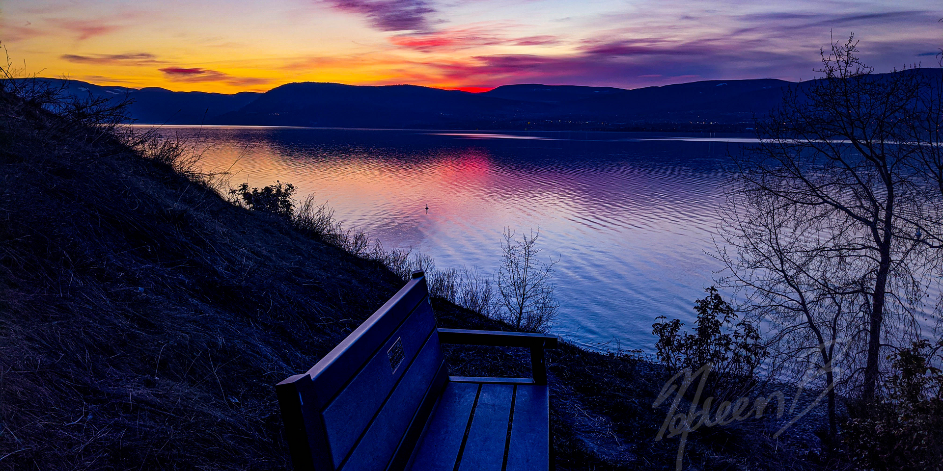 Bench Sunset