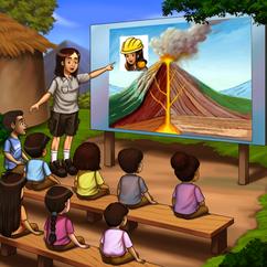 Volcanologists: a scientist who studies volcanoes