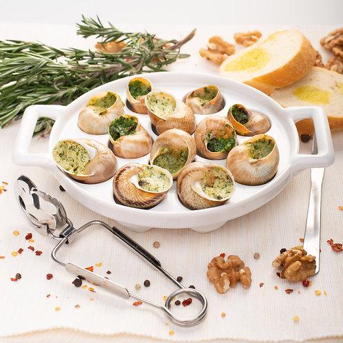 Улитки с грецким орехом и базиликом (12 шт.)