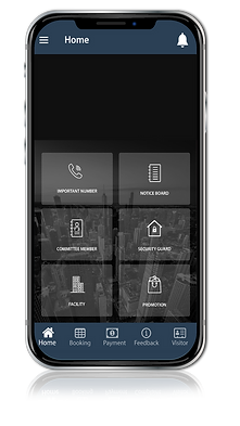 M4U home management system app on Phone