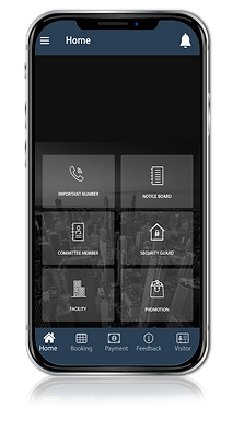 M4U home management system app on Phone