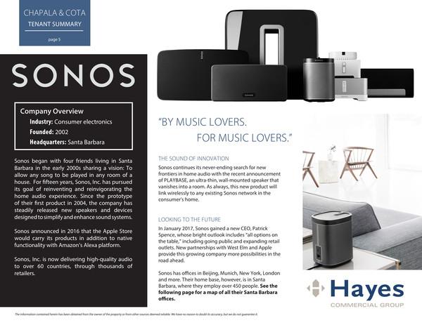 Sonos tenant profile