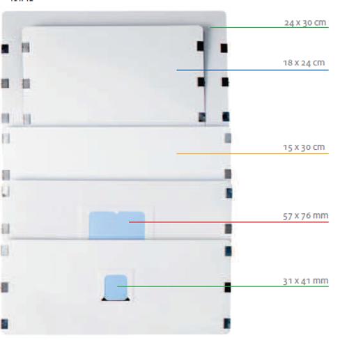 SX 9802078 Piastra ai Fosfori per PCT Ceph mis. 18x24 pz.1