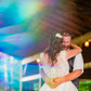first dance wedding photography colorful