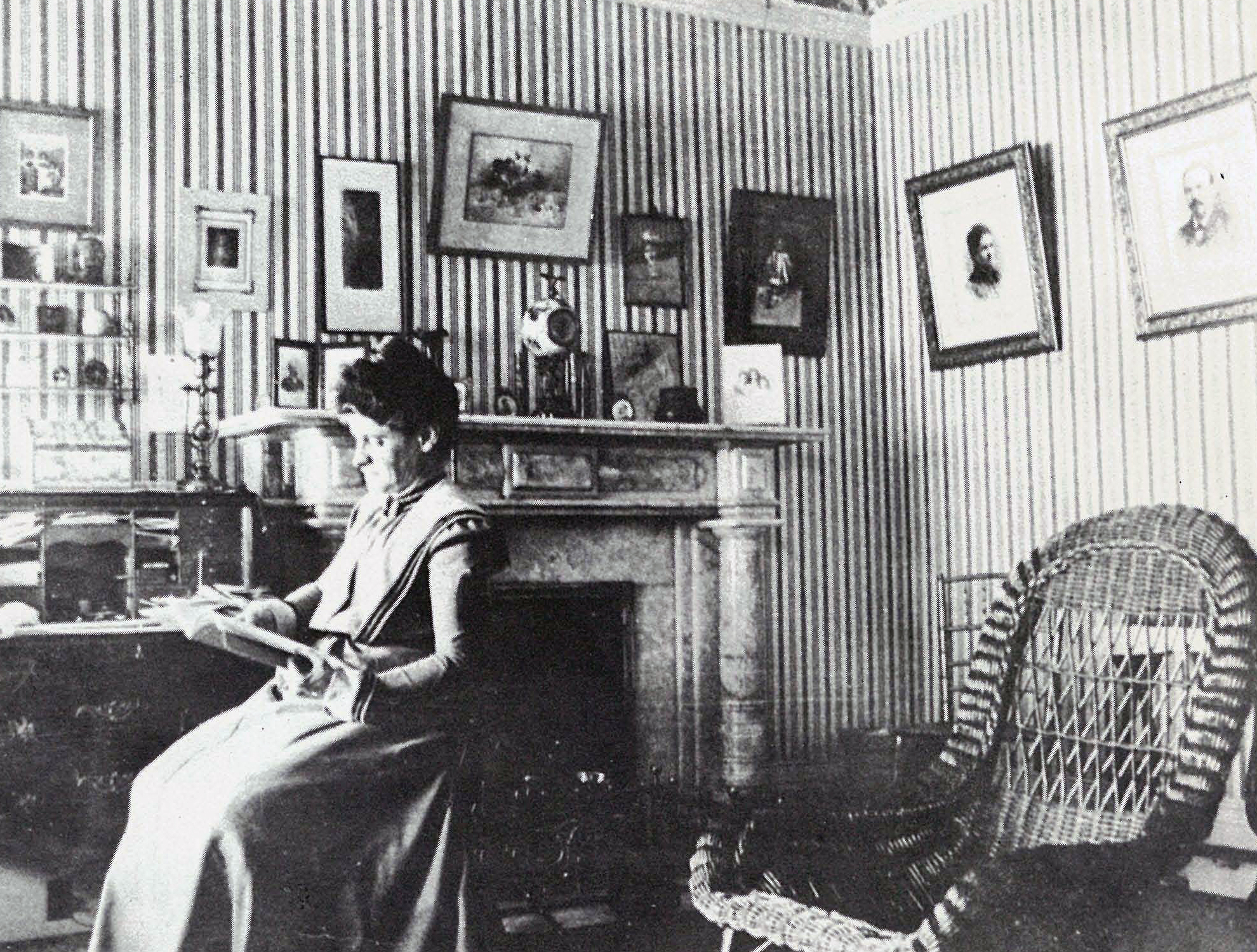 Bertha Greenebaum in upstairs office