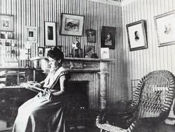 Bertha Greenebaum in upstairs office