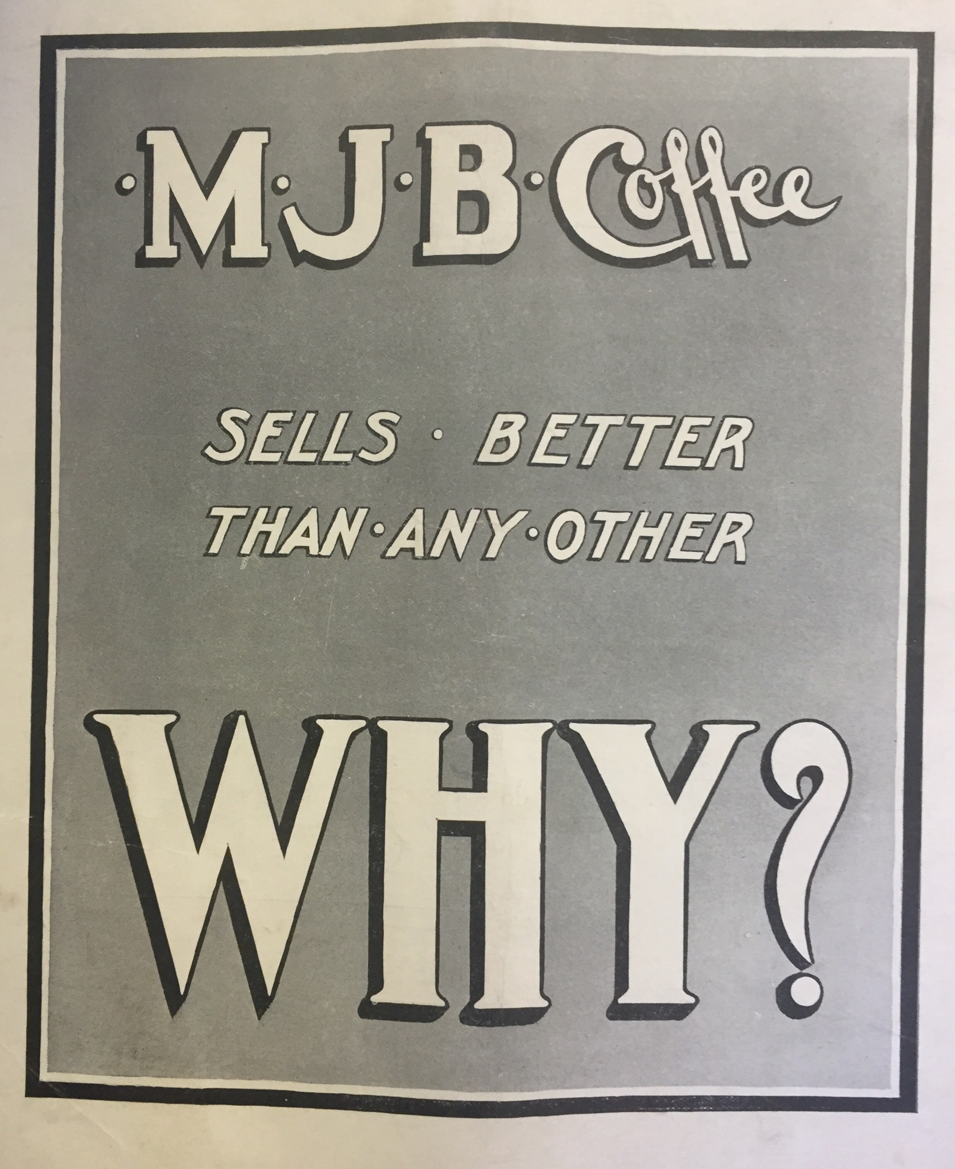 MJB Coffee Ad c. 1920s