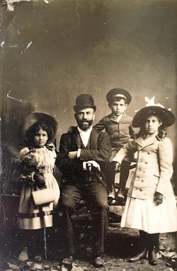 William Haas with his children