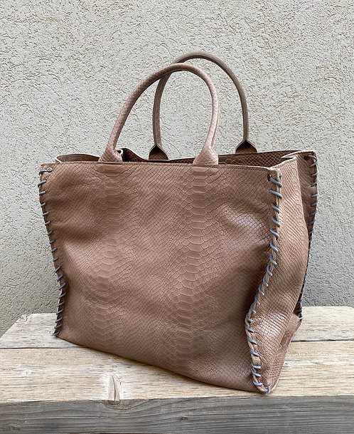 AZTEC BIG BAG  Croco Taupe