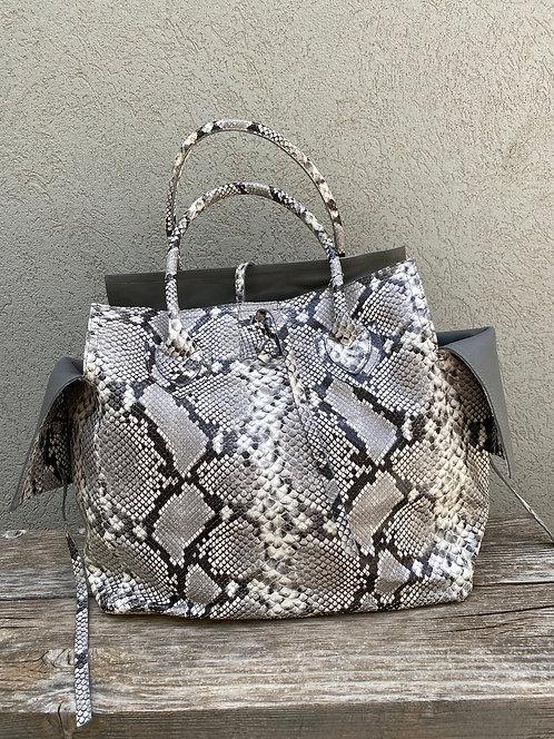 MEDIUM BAG  python grey print