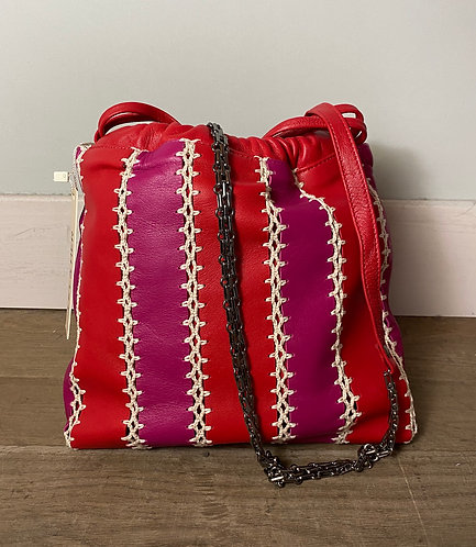 BIJOUX   embroided red/fuchsia