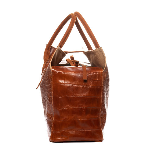 MEDIUM BAG  Cognac Croco