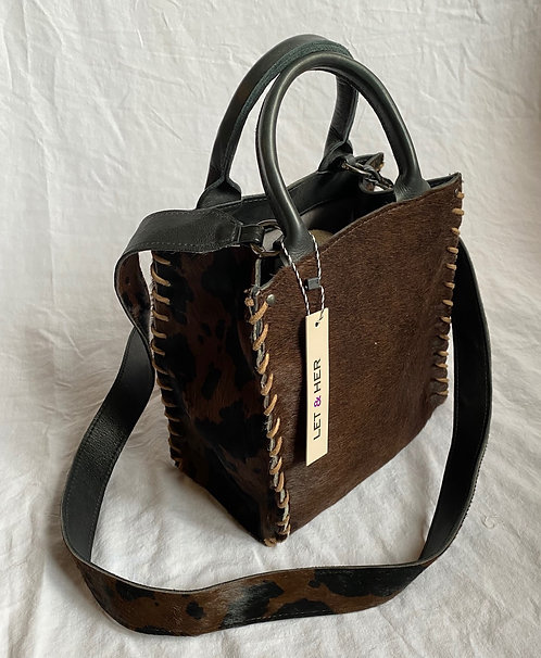 AZTEC SMALL  CROSSBODY  Pony Brown Spotted