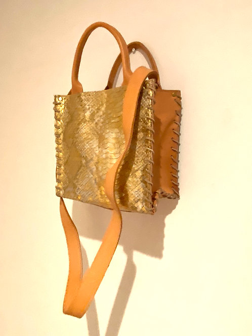 AZTEC SMALL WITH STRAP Gold