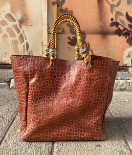COGNAC CROCO EMBOSSED