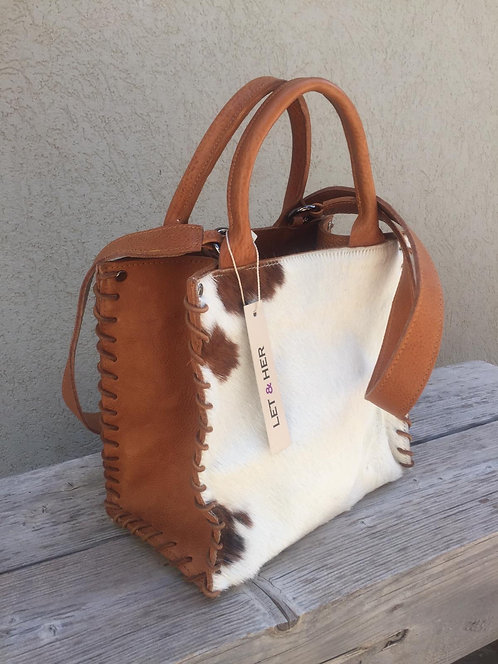 AZTEC SMALL CROSSBODY   White Spotted