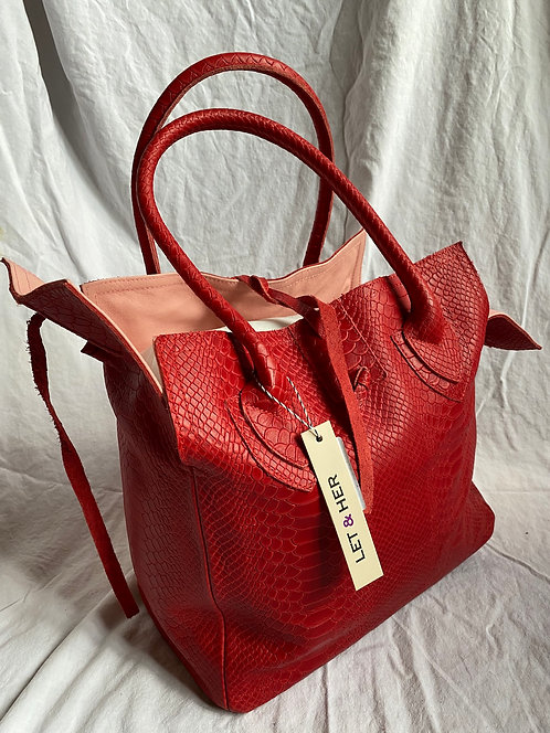 MEDIUM BAG  Red Croco