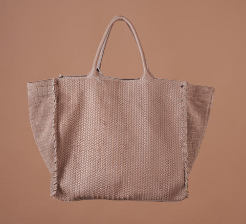 PONY WOVEN TAUPE SUEDE
