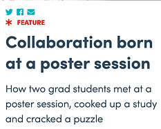 ASBMB feature about Blaho Buczynski poster session collaboration