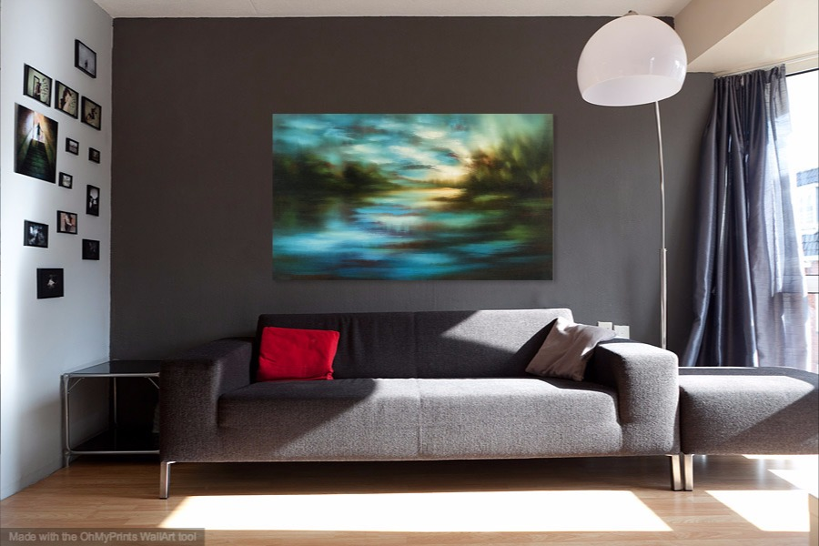 "'Dusk Light' 36"" x 60"", sold"
