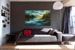 """'Dusk Light' 36"""" x 60"""", sold"""