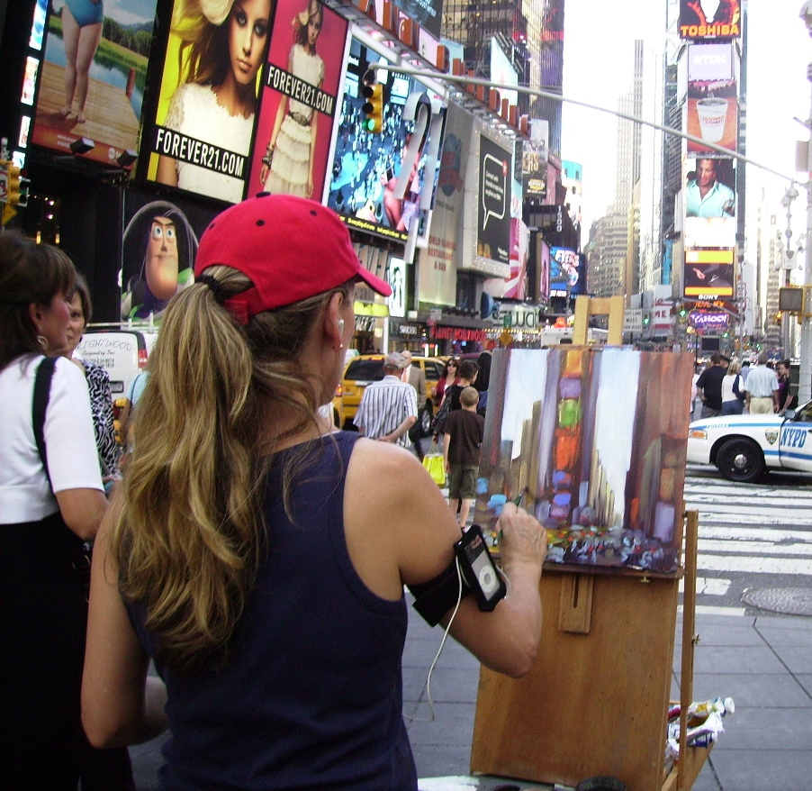Painting in Times Square