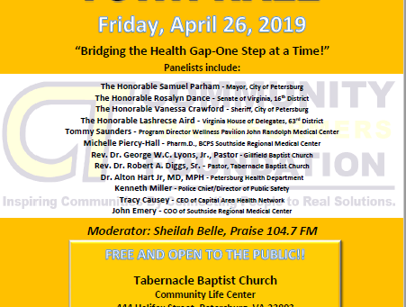 Panelists for Bridging the Gap Town Hall Announced