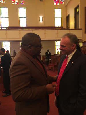 Donald Barrow Of Community Transformers welcomes Senator Tim Kane to the Community